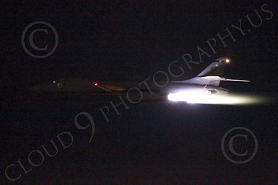 AB - B-1 00224 Rockwell B-1 Lancer USAF in afterburner at night military airplane picture by Peter J Mancus