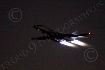 AB - B-1 00188 Rockwell B-1 Lancer USAF in afterburner at night military airplane picture by Peter J Mancus