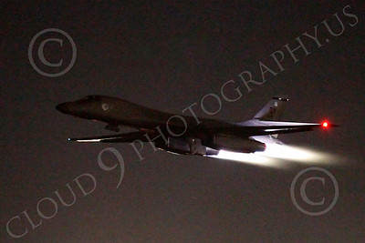 AB - B-1 00178 Rockwell B-1 Lancer USAF in afterburner at night military airplane picture by Peter J Mancus