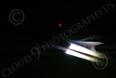 AB - B-1 00154 Rockwell B-1 Lancer USAF in afterburner at night military airplane picture by Peter J Mancus