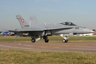 J-5022 | McDonnell Douglas F/A-18C Hornet | Swiss Air Force
