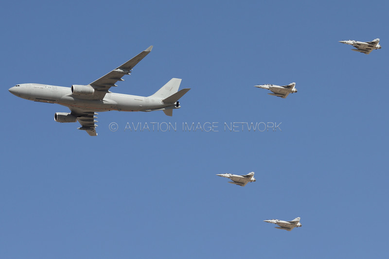 1300 | Airbus A330-243 (MRTT) and Dassault Mirage 2000 | United Arab Emirates Air Force
