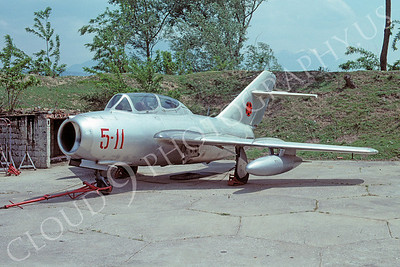 Mikoyan-Guryevich MiG-15UTI Fagot 00005 Mikoyan-Guryevich MiG-15UTI Fagot Albanian Air Force 5-11 May 1992 via African Aviation Slide Service
