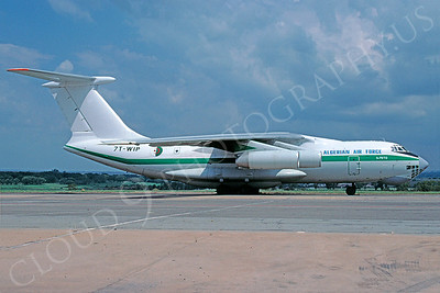 Ilyushin Il-76 MD Candid 00011 Ilyushin Il-76TD Candid Algerian Air Force 7T-WIP February 1976 via African Aviation Slide Service