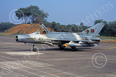 Chengdu F-7 00009 A static Chengdu F-7 Fishbed Bangladesh Air Force 421 military airplane picture by Rogier Westerhuis