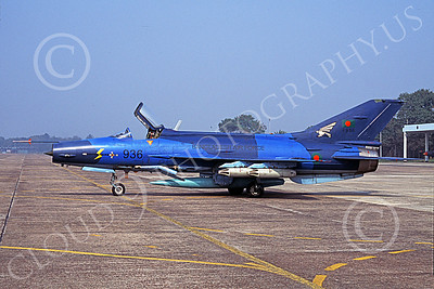 Chengdu F-7 00007 A static blue Chengdu F-7 Fishbed Bangladesh Air Force 936 military airplane picture by Rogier Westerhuis