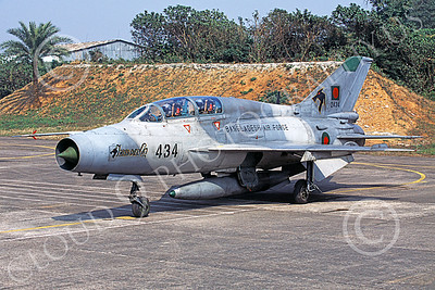 MiG-21U 00023 A static Mikoyan-Guryevich MiG-21U Mongol Bangladesh Air Force 2434 military airplane picture by Rogier Westerhuis