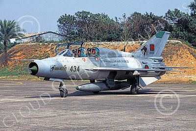 MiG-21U 00025 A static Mikoyan-Guryevich MiG-21U Mongol Bangladesh Air Force 2434 military airplane picture by Rogier Westerhuis