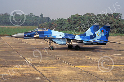 MiG-29 00075 A static blue Mikoyan-Guryevich MiG-29 Fulcrum Bangladesh Air Force military airplane picture by Rogier Westerhuis