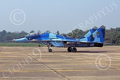 MiG-29UB 00023 A taxing blue Mikoyan-Guryevich MiG-29UB Fulcrum Bangladesh Air Force 28376 military airplane picture by Rogier Westerhuis