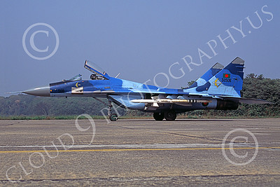 MiG-29 00081 A static blue Mikoyan-Guryevich MiG-29 Fulcrum Bangladesh Air Force 36506 military airplane picture by Rogier Westerhuis