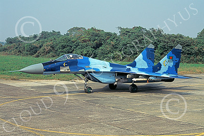 MiG-29 00077 A taxing blue Mikoyan-Guryevich MiG-29 Fulcrum Bangladesh Air Force 36506 military airplane picture by Rogier Westerhuis