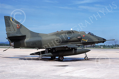 A-4Forg 00030 A static Brazilian Navy Douglas A-4 Skyhawk attack jet, military airplane picture, by P Steinemann