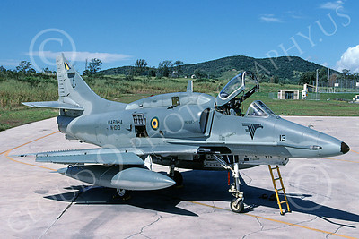 A-4Forg 00035 A static Brazilian Navy Douglas A-4 Skyhawk attack jet, military airplane picture, 6-2003