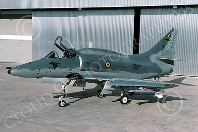 A-4Forg 00034 A static Brazilian Navy Douglas A-4 Skyhawk attack jet, military airplane picture, 6-2003