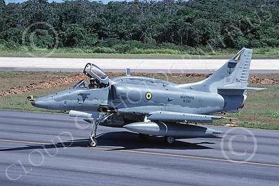 A-4Forg 00026 A static Brazilian Navy Douglas A-4 Skyhawk attack jet, military airplane picture