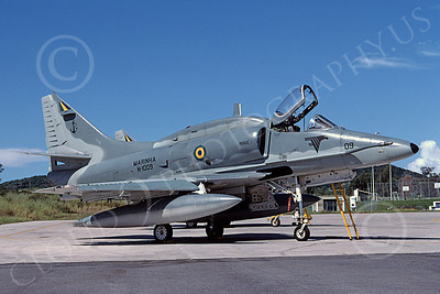 A-4Forg 00027 A static Brazilian Navy Douglas A-4 Skyhawk attack jet, 6-2003, military airplane picture