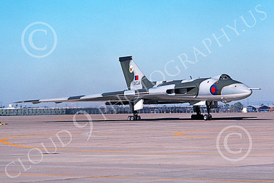 Avro Vulcan 00007 A static Avro Vulcan jet bomber British RAF XH534 McClelland AFB 7-1976 military airplane picture by Michael Grove, Sr