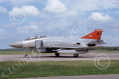 F-4Forg 00197 McDonnell Douglas F-4 Phantom II British RAF XV426 7-1991 airplane picture by Jeff Hampton