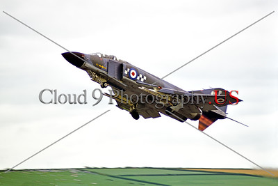 F-4IIForg-British RAF 0002 A McDonnell Douglas F-4 Phantom II British RAF taking off in afterburner, military airplane picture by Stephen W D Wolf     853_5097     DoneWT