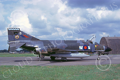 F-4Forg 00199 McDonnell Douglas F-4 Phantom II British RAF XV480 10 8-1982 military airplane picture by E  De Kruyff