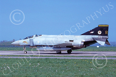 F-4Forg 00192 McDonnell Douglas F-4 Phantom II British RAF XV490 5-1991 military airplane picture by Jon Warner