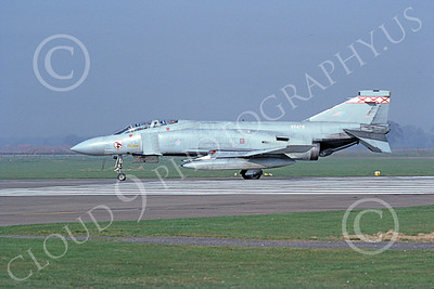F-4Forg 00201 McDonnell Douglas F-4 Phantom II British RAF XV478 25 3-1982 military airplane picture by Peter R Foster
