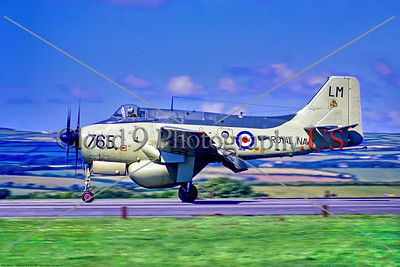 Gannet 003 A Fairey Gannet, British Royal Navy XL496, carrier-borne AEW [airborne early warning] aircraft, on runway at Culdrose 7-1971, military airplane picture by Stephen W  D  Wolf     11A_1396     Dt