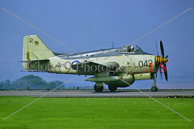 Gannet 007 A Fairey Gannet, British Royal Navy XL494, carrier-borne AEW [airborne early warning] aircraft, 7-1972 Culdrose, on a runway, military airplane picture by Stephen W  D  Wolf     11A_4254     Dt