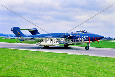 Hawker Siddeley Sea Vixen 005 A taxing Hawker Siddeley Sea Vixen, British Royal Navy carrier based fleet defense aircraft, XP920, 9-1969 Yeovilton, military airplane picture by Stephen W  D  Wolf     853_7970     Dt