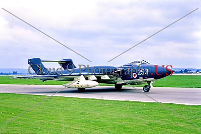 Hawker Siddeley Sea Vixen 007 A taxing Hawker Siddeley Sea Vixen, British Royal Navy carrier based fleet defense aircraft, XJ518, 9-1969 Yeovilton, military airplane picture by Stephen W  D  Wolf     853_7966     Dt