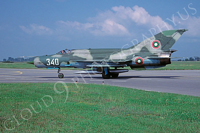Mikoyan-Guryevich MiG-21 Fishbed 00031 Mikoyan-Guryevich MiG-21 Fishbed Bulgarian Air Force 340 September 2005 via African Aviation Slide Service