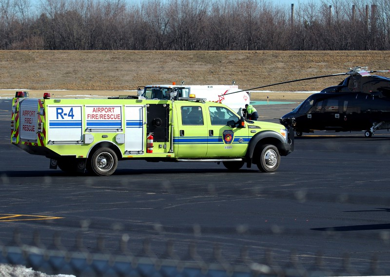 F-550 crash truck on the ramp