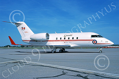 CC-144 00001 A static Canadair CC-144 Challenger Canadian Armed Forces 144602 412 Sq 6-1994 military airplane picture by Michael Grove, Sr