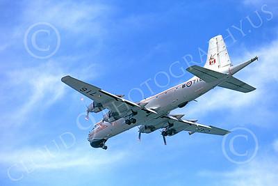Canadir CP-107 Argus 00004 A landing RCAF Canadir CP-107 Argus 716 9-1973 military airplane picture by Michael Grove, Sr