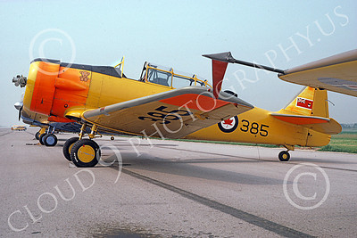 T-6Forg 00007 A static North American T-6 Harvard Canadian Armed Forces 385 military airplane picture by Bill Chandler
