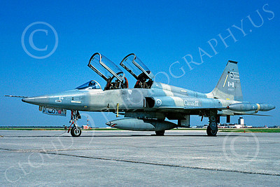 F-5Forg 00057 Northrop F-5B Freedom Fighter Canadian Armed Forces 116807 via African Aviation Slide Service