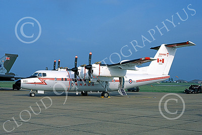 CC-132 00005 A static de Havilland Canada CC-132 Dash 7 Canadian Armed Forces 001 6-1984 military airplane picture by Tim Hollister
