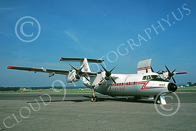 CC-132 00003 A static de Havilland Canada CC-132 Dash 7 Canadian Armed Forces 002 9-1980 military airplane picture by Brad Bennington