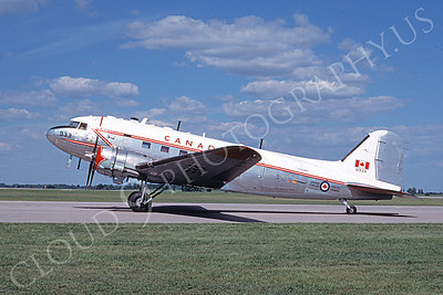 C-47Forg 00012 A taxing C-47 Skytrain Canadian Armed Forces 12933 6-1988 airplane picture by David F Brown