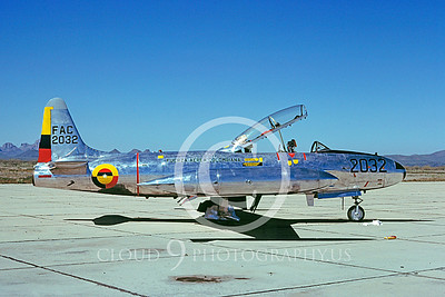 T-33Forg 00007 Lockheed T-33 Shooting Star Columbian Air Force 1978 by Ben Knowles via AASS