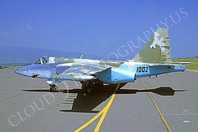 SM 00036 Sukhoi Su-25 Frogfoot Czeh Air Force 1002 via African Aviation Slide Service