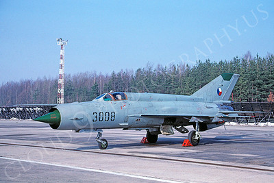Mikoyan-Guryevich MiG-21 Fishbed 00021 Mikoyan-Guryevich MiG-21 Fishbed Czech Air Force via African Aviation Slide Service