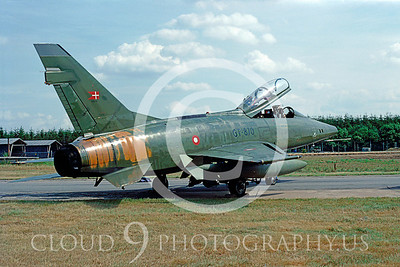 F-100FORG 0001 North American F-100 SuperSabre Danish #GT-870 1982 via AASS