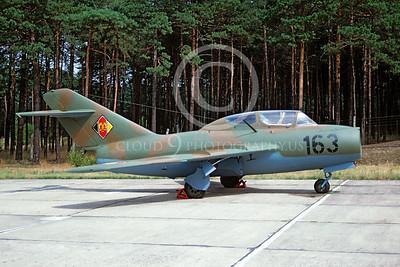 Mikoyan-Guryevich MiG-15 Fagot 00003 Mikoyan-Guryevich MiG-15 Fagot East German Air Force 163 August 1990 via African Aviation Slide Service