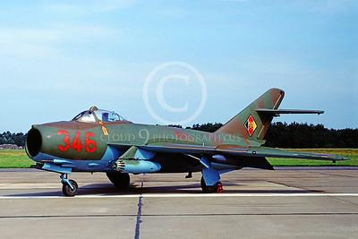 Mikoyan-Guryevich MiG-17 Fresco 00001 Mikoyan-Guryevich MiG-17 Fresco East German Air Force 346 July 1991 via African Aviation Slide Service