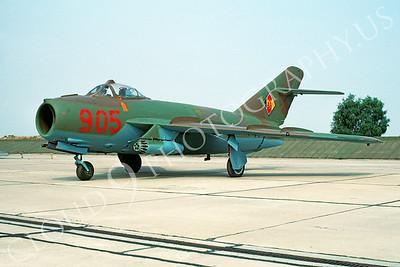 Mikoyan-Guryevich MiG-17 Fresco 00003 Mikoyan-Guryevich MiG-17 Fresco East German Air Force 905 August 1990 via African Aviation Slide Service