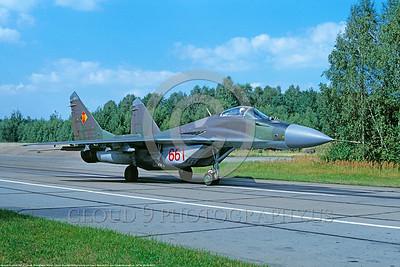 Mikoyan-Guryevich MiG-29 Fulcrum 00013 Mikoyan-Guryevich MiG-29 Fulcrum East German Air Force August 1990 via African Aviation Slide Service DONEt