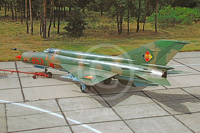 Mikoyan-Guryevich MiG-21 Fishbed 00009 Mikoyan-Guryevich MiG-21 Fishbed East German Air Force 853 via African Aviation Slide Service