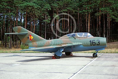 Mikoyan-Guryevich MiG-15 Fagot 00003 Mikoyan-Guryevich MiG-15 Fagot East German Air Force 163 August 1990 via African Aviation Slide Service
